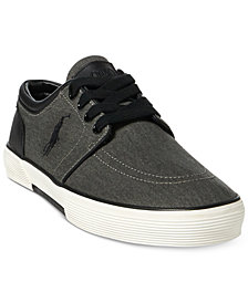 Polo Ralph Lauren Men's Faxon Washed Twill Sneakers