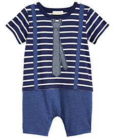 First Impressions Little Man Cotton Romper, Baby Boys, Created for Macy's