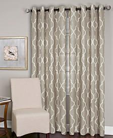 Elrene Linen Medalia Curtain Panels