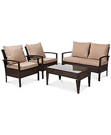 Empire Outdoor 4-Pc. Patio Set, Quick Ship