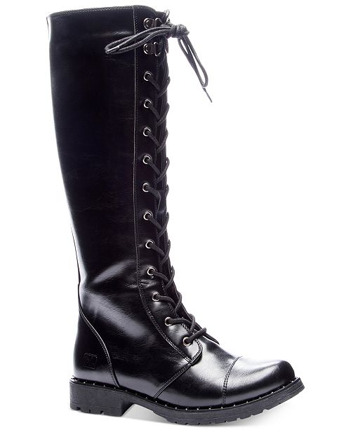 Tall Combat Boots