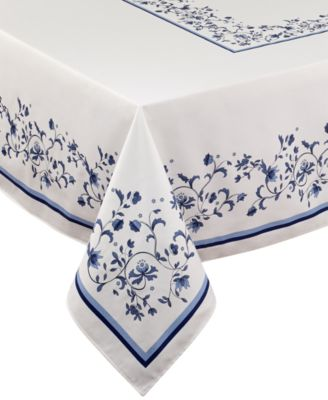 "Portmeirion Blue Portofino 60"" x 84"" Tablecloth"