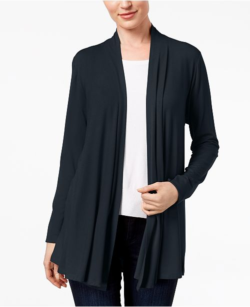 32311d9f97 Karen Scott Cotton Open-Front Cardigan