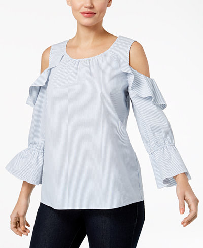 Style & Co Cold-Shoulder Top, Created for Macy's