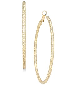 "Textured Extra Large 3.75"" Hoop Earrings, Created for Macy's"