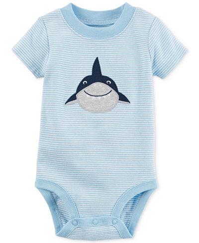 Carter's Striped Shark Cotton Bodysuit, Baby Boys