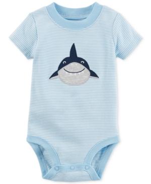 Carters Striped Shark Cotton Bodysuit Baby Boys (024 months)