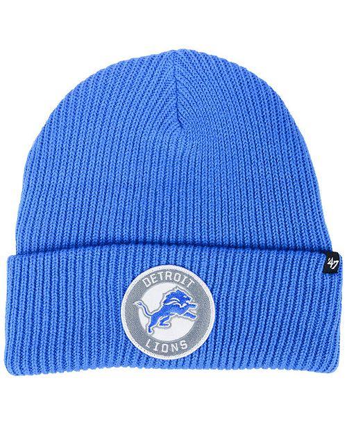 296ae4433a6 47 Brand Detroit Lions Ice Block Cuff Knit Hat - Sports Fan Shop By ...