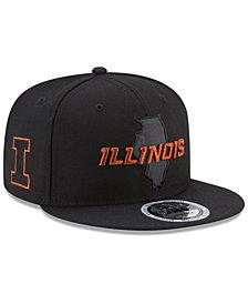 New Era Illinois Fighting Illini State Flective 9FIFTY Snapback Cap