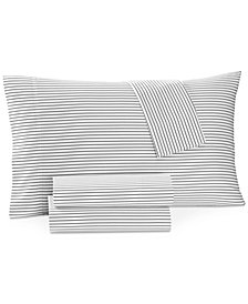 Charter Club Damask Designs Printed Pinstripe Extra Deep King 4-pc Sheet Set, 550 Thread Count, Created for Macy's