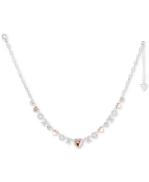 Guess  TWO-TONE CRYSTAL, XO & HEART NECKLACE