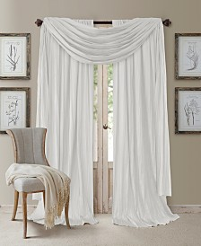 "Elrene Athena Rod Pocket 52"" x 95"" Pair of Curtain Panels with Scarf Valance, Set of 3"