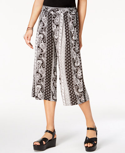 Be Bop Juniors' Printed Gauchos