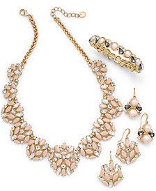 Charter Club Gold-Tone Multi-Stone & Pink Imitation Pearl Jewelry Collection, Created for Macy's