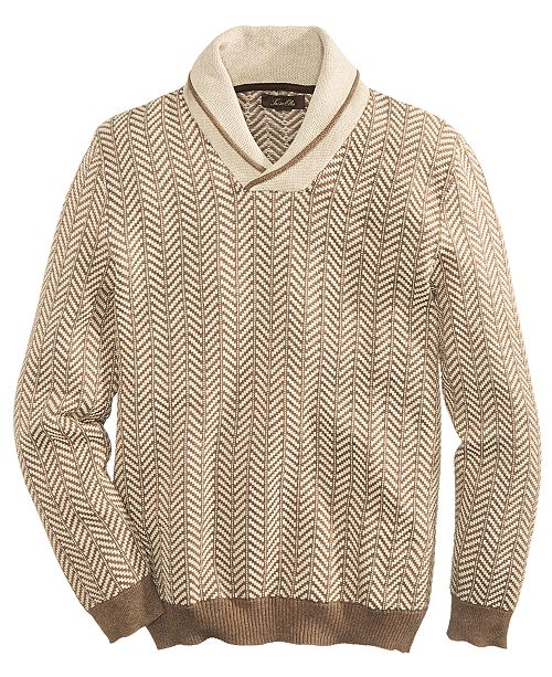 793764c05 Tasso Elba Men s Textured Shawl-Collar Sweater