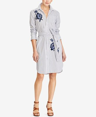 Lauren Ralph Lauren Embroidered Shirtdress