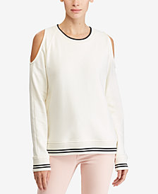 Lauren Ralph Lauren Cold-Shoulder Sweatshirt