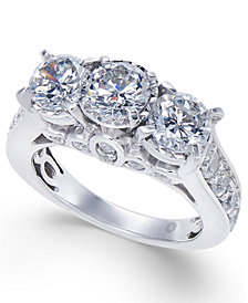 Diamond Trinity Engagement Ring (3 ct. t.w.) in 14k White Gold