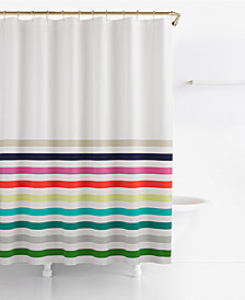 "kate spade new york Candy Stripe Cotton 72"" x 72"" Shower Curtain"