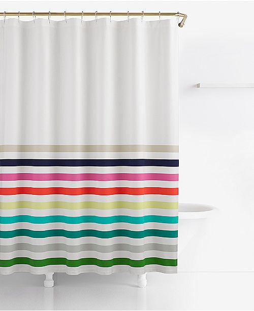 Kate Spade New York Candy Stripe Cotton 72 X Shower Curtain