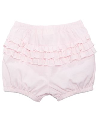 Chambray Ruffled Cotton Bloomer Shorts, Baby Girls, Created for Macy's
