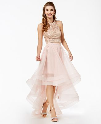 Say Yes to the Prom Juniors' Embellished 2-Pc. Gown, Created for Macy's