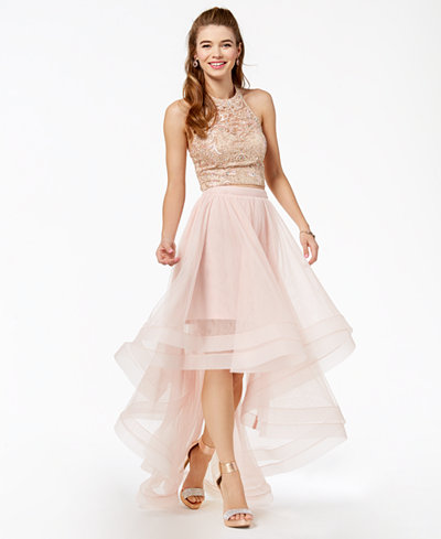 Say Yes to the Prom Juniors' Embellished 2-Pc. Gown ...