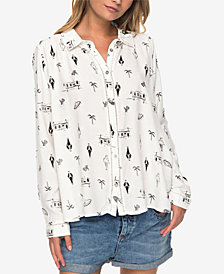 Roxy Juniors' Printed Blouse