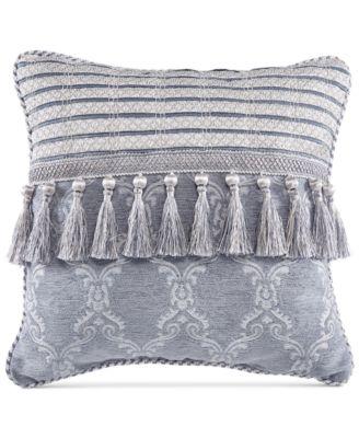 "Seren Chenille Damask Jacquard 16"" Square Decorative Pillow"