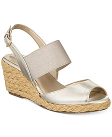 Bandolino Himeka Espadrille Wedge Sandals, Created for Macy's