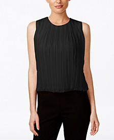 Sleeveless Pleated Blouse
