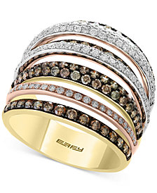 EFFY® Diamond Tri-Gold Ring (1-3/4 ct. t.w.) in 14k Gold, White Gold & Rose Gold