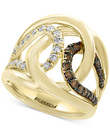 EFFY® Diamond Interlocking Ring (3/4 ct. t.w.) in 14k Gold