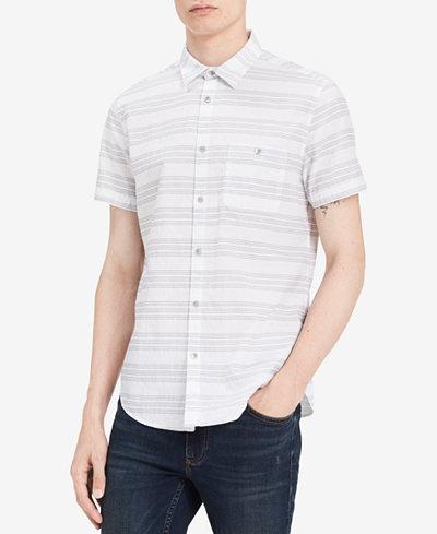Calvin Klein Jeans Men's Textured Striped Shirt