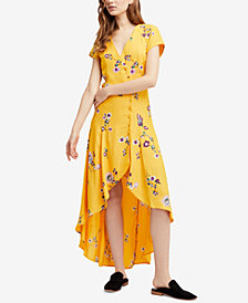 Free People Lost In You Floral-Print High-Low Dress