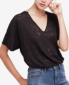 Free People Maddie Oversized Burnout T-Shirt