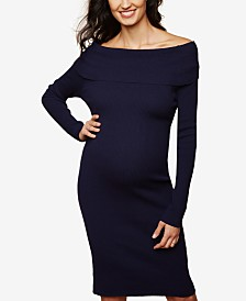 Motherhood Maternity Off-The-Shoulder Sheath Dress
