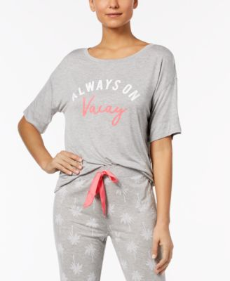by Jennifer Moore Graphic-Print Pajama Top, Created for Macy's
