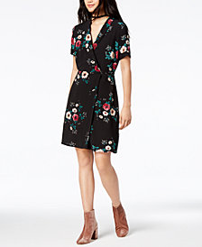 Glam by Glamorous Floral-Print Wrap Dress, Created for Macy's
