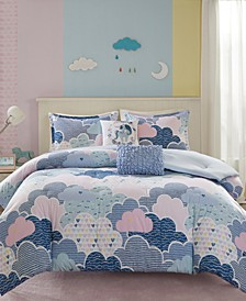 Cloud 5-Pc. Printed Full/Queen Comforter Set