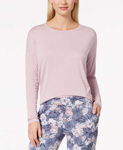 Alfani Knit Loose Pajama Top, Created for Macy's