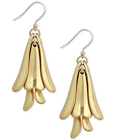 Lucky Brand Silver-Tone Petal Drop Earrings