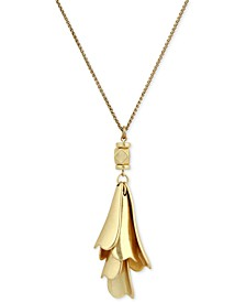 Gold-Tone Petal Pendant Necklace