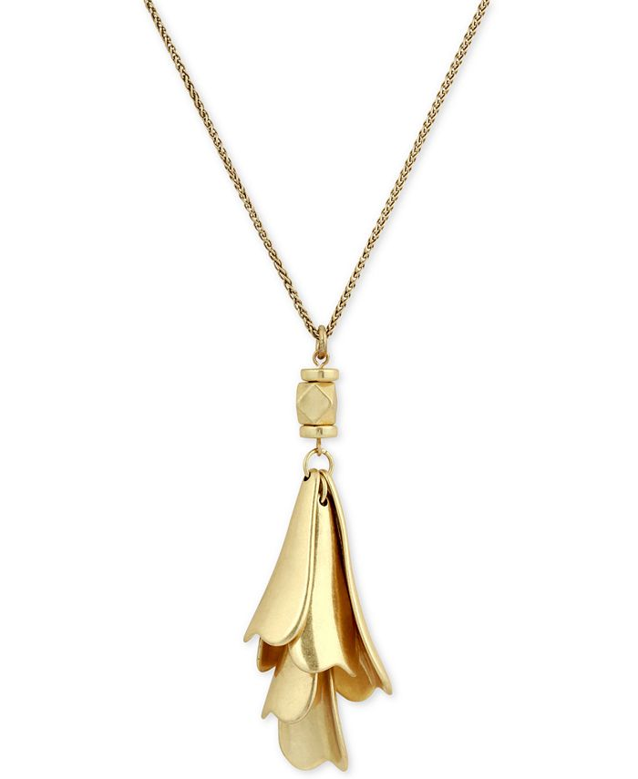 Lucky Brand - Gold-Tone Petal Pendant Necklace