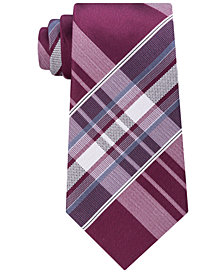 Kenneth Cole Reaction Men's Aquamarine Plaid Tie