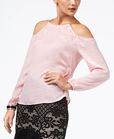 Thalia Sodi Cold-Shoulder Chain-Embellished Top, Created for Macy's