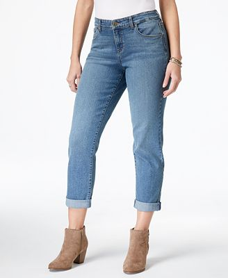 Style Co Curvy Fit Cuffed Boyfriend Jeans Created For Macy S