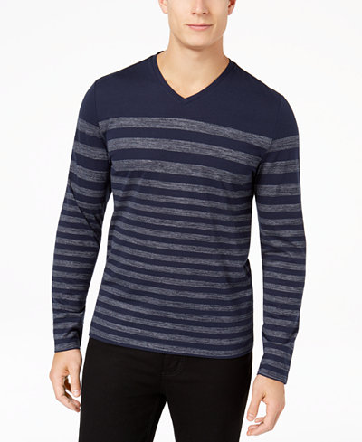 Alfani Men's Stripe T-Shirt, Created for Macy's