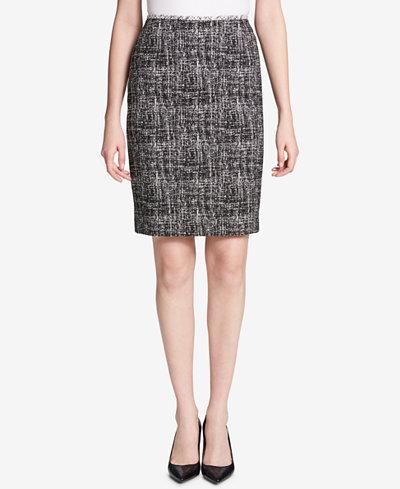 Calvin Klein Printed Straight Skirt