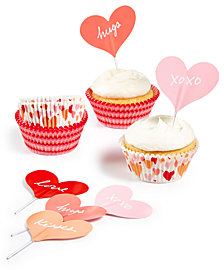 Martha Stewart Collection Heart Cupcake Liners & Toppers, Created for Macy's